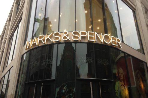 Den Haag - winkelinbouw M&S - hoek Grote Markststraat / Wagenstraat