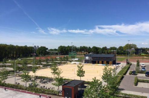 Uitzicht van het dak richting de Sportblvd